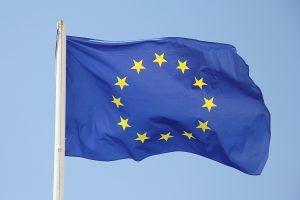 bandiera europea blu con stelle