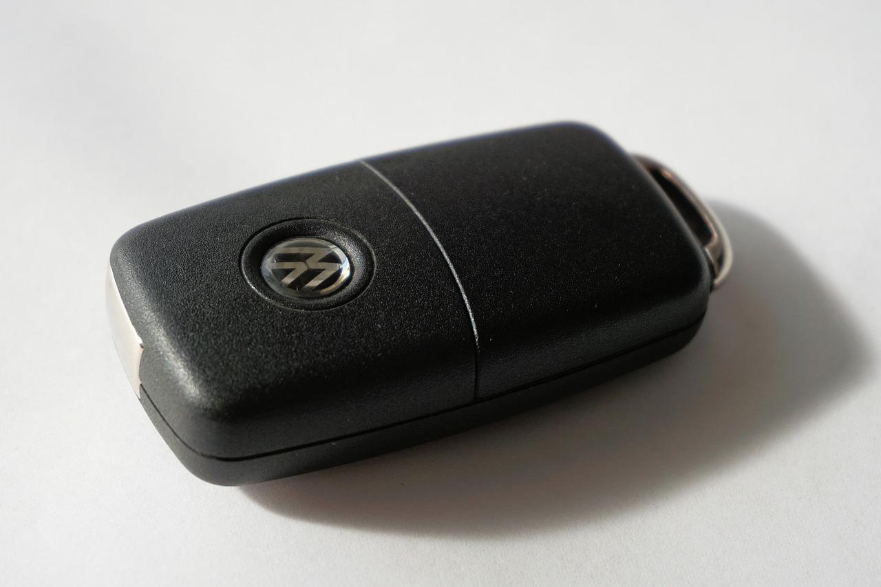 chiave auto nera volkswagen