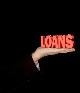 scritta loans sul palmo della mano