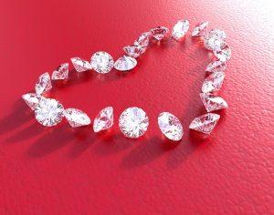 come conservare i diamanti cuore